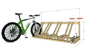 atomicrack cool bicycle rack for garage or apartmentbike racks