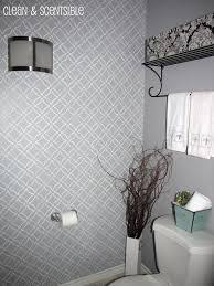 bathroom wall stencil ideas stenciled bathroom wall and the cutting edge stencil winner