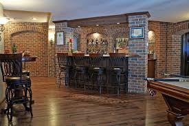 finished basement bar and billiard room traditional basement