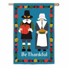 thanksgiving house flags thankful pilgrims house flag thanksgiving flags holidays