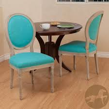 Tufted Dining Chair Set Luxurious Oval Back Teal Dining Chairs On