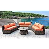 amazon com cast aluminum curved outdoor sofa elisabeth 2 piece