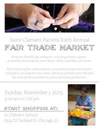 upcoming events st clement fair trade market chicago fair trade