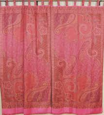 ethnic style curtains u2013 pink paisley classic traditional indian