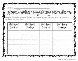 place value mystery number cards by love to learn and teach tpt