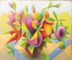 cubism flower painting raoul martinez a cubist still with flowers