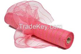 mesh ribbon wholesale 21inch 10yard coral poly wholesale deco mesh ribbon for