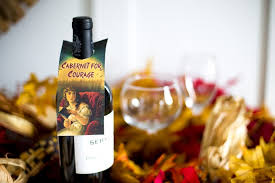 cabernet for courage halloween wine tag the heathered nest