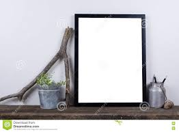 minimal home scandinavian style empty photo frame mock up minimal home decor