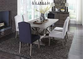 carolina lakes gray trestle dining room set from liberty coleman