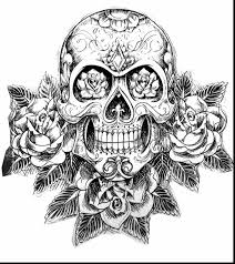 extraordinary sugar skull coloring pages printable with sugar