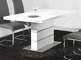 long white lacquer dining table with three based support added