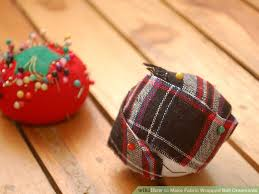 how to make fabric wrapped ornaments 6 steps with pictures