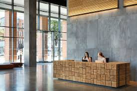 Timber Reception Desk Designing Two Reception Desks For Thames Tower Dn A Architects
