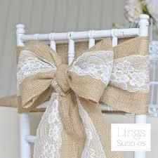burlap chair sash lace burlap chair sashes cover hessian jute linen rustic tie