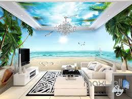 3d tropical palm tree beach sunshine entire living room wallpaper 3d tropical palm tree beach sunshine entire living room wallpaper wall murals art idcqw 000129