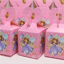 princess candy bags 10pcs lot candy box birthday theme party loading gift loot bag