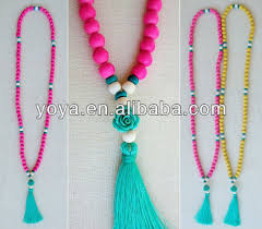 beaded necklace with tassel images Tassel necklace wholesale ne2101 wholesale wooden beads jpg