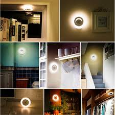 corridor lighting battery powered pir motion sensor detector 8 led night light