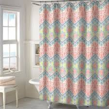 Colored Shower Curtain Best Of Coral Shower Curtains And Coral Colored Shower Curtain