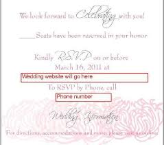 rsvp wording template made with love wording for rsvp cards