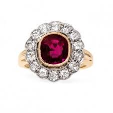 ruby engagement ring vintage ruby engagement rings shop trumpet horn