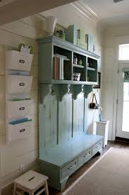 hall tree foyer with distressed indoor hall tree bench featured drawers