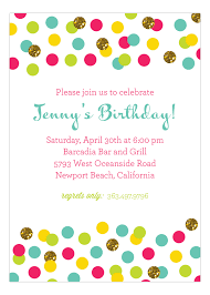 polka dot invitations glitter color confetti invitation polka dot glitter invitations