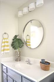 White Framed Mirrors For Bathrooms Bathrooms Design Circle Light Mirror Toilet Mirror Large Framed
