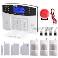lcd wireless gsm sms home burglar intruder security alarm system remote control