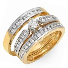 cheap wedding rings sets gold wedding ring sets for