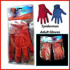 marvel superheroes the amazing spider man gloves men u0027s