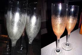 new years chagne glasses diy amavo new year s glitter chagne glasses