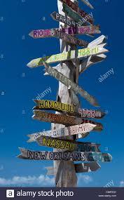 Key West Flag Signpost Key West Florida Beach Stock Photos U0026 Signpost Key West