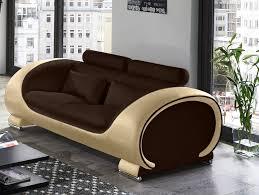 3 sitzer sofa sam 2 u0026 3 sitzer sofa garnitur 2tlg in braun creme vigo