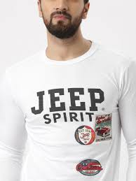 jeep shirt jeep unisex white printed round neck t shirt huew