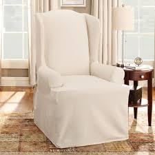 Armchair Slipcovers Bedroom Astonishing Wing Chair Recliner Slipcover For Elegant