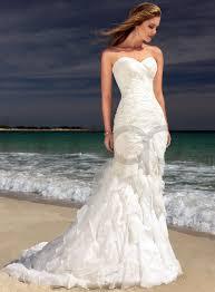 sensual white strapless mermaid wedding dresses cherry marry
