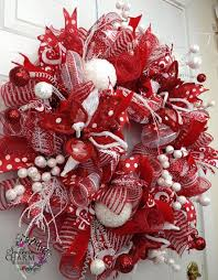 white deco mesh pictures of and white deco mesh christmas wreaths deco mesh