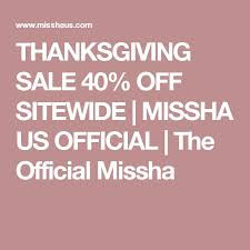 thanksgiving sale 40 sitewide missha us official the