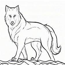 kidscolouringpages orgprint u0026 download realistic wolf coloring