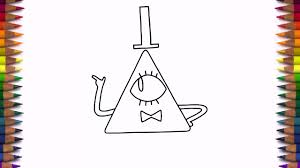 how to draw bill cipher from gravity falls characters youtube