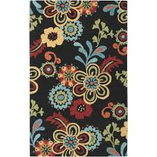 Floral Outdoor Rug Antimicrobial Outdoor Rugs Rugs The Home Depot