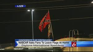 Flags In Nascar Fans Fly Confederate Flag At Nascar Race In Daytona Beach