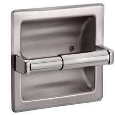 paper holder recessed toilet paper holder brushed nickel 18578002005 ebay