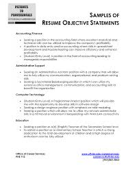 Good Objective Statements For Resumes Berathen Com - objective statement for resume sle berathen com to inspire you