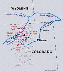 wesley powell map of his travels in the colorado rockies