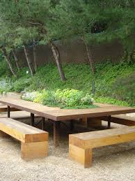 Outside Bench Dining Outdoors Simplequietmodern