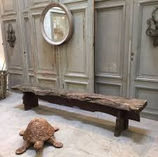 nice primitive wooden bench espace nord ouest