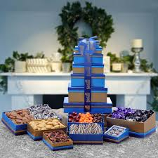 Gift Towers Majestic Holiday Gift Tower Gourmet Gift Assortment From Dilettante